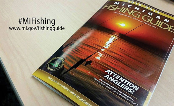 New michigan fishing guide available cedar springs post for Michigan dnr fishing guide