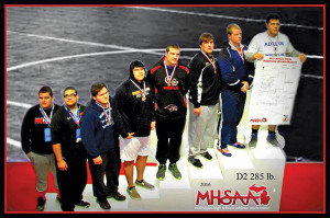 Junior Patrick Depiazza placed fourth at state in the heavyweight division.