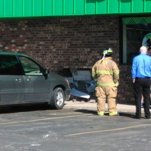 A vehicle smashed into the Dollar Tree last Friday, April 15, causing damage inside and out. Thank you to the readers who shared photos with us.