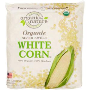Organic white corn meal