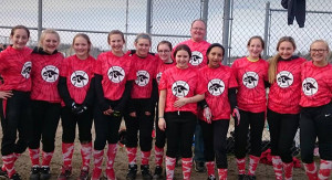 8th Grade softball team