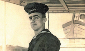 Seaman 2nd Class Erwin Duane Empie, left Cedar Springs High School in 1944 to enlist in the Navy during World War II.