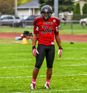 West Michigan Hawks linebacker JaVon Welch