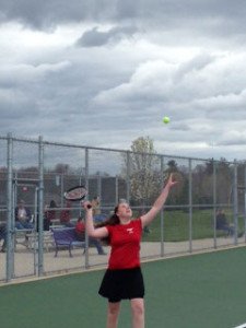 Girls tennis won 6-2 at Greenville Monday.