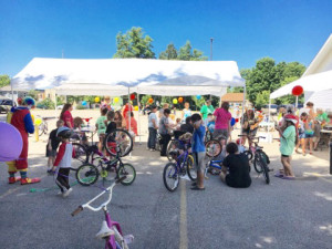 Dozens of kids and families turned out to pick out a good used bike and/or enjoy the festivities. Courtesy photo.