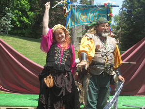 The Wonder elixir comedy team kept the crowd entertained at the CS Renaissance Faire. Photo by J. Reed. A woman in Victorian dress and an elf from Middle Earth were seen at the Ren Faire last weekend. Post photo by J. Reed. Kids had a blast playfighting with toy swords and other middle age weaponry. Post photo by J. Reed.