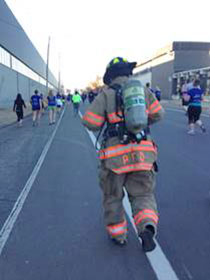 Firefighter Candace Wetter wore full turnout gear when she competed in the Gazelle 5K earlier this year, just to prove she could.
