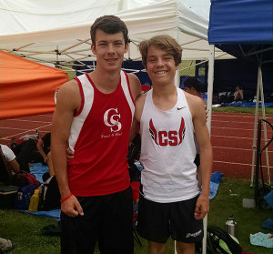 Remington Sawade (left) and Dallas Mora (right) at the Division II State Finals on June 4.