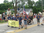 Cub Scouts in the Sand Lake 4th of July Parade