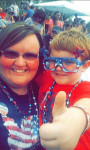 Ayden Isaacson, and his Aunt Bridget taking a quick selfie before the demolition derby in Sand Lake. Submitted by Aleisha Smith