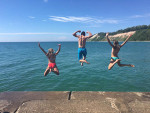 Cousins pier jumping in Frankfort! Submitted by Amy Rohn Bray