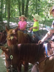 Riding horses with the grand kids. Submitted by Ginger Schaner