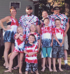 We color coordinated, as families do. Submitted by Sara Garn Hendricks