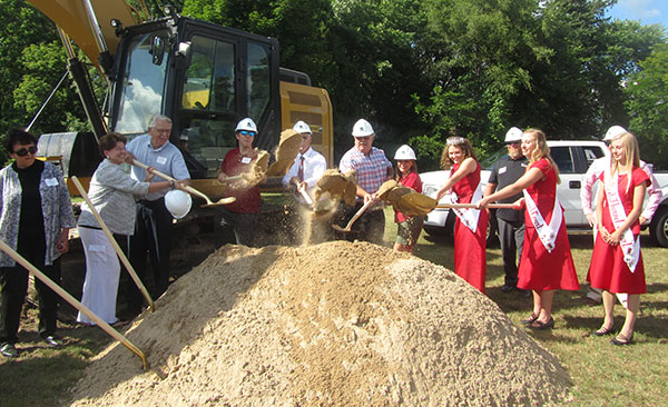 The groundbreaking of the new Cedar Springs Library took place Saturday, July 9 at the corner of Main Street and W. Maple. Photo by J. Reed.
