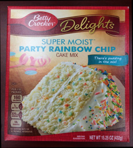 *N-Recall Cake mix rainbow chip