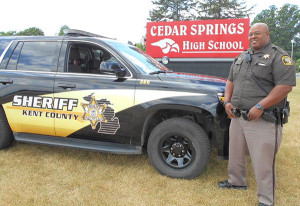 Kent County Sheriff Deputy Tom McCutcheon will be on the job 40 hours a week at Cedar Springs Public Schools this fall as the new school resource officer.