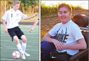 Brison Ricker, 15, was on the Varsity soccer team at Cedar Springs High School last year, before being diagnosed with a brain tumor.