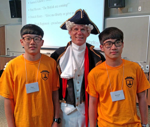 Chinese students learned about some of America's founding fathers in their ESL class this summer.
