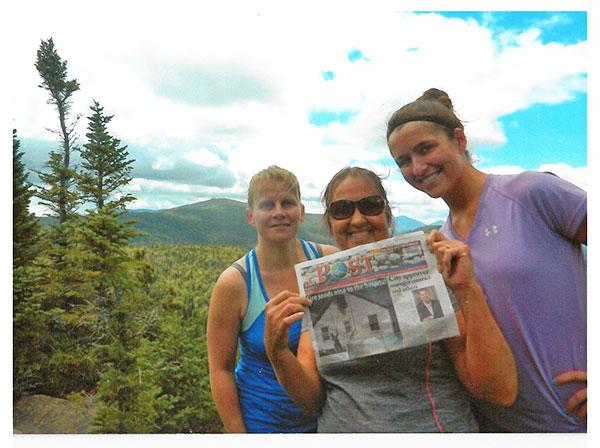 (L to R) is Angela Swinehart, Kelli and Jessica Hamilton on Weston Mountain.