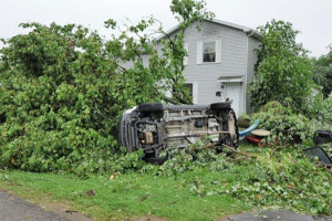 Tornado damage in Bangor. Photo credit South Haven Emergency Services.
