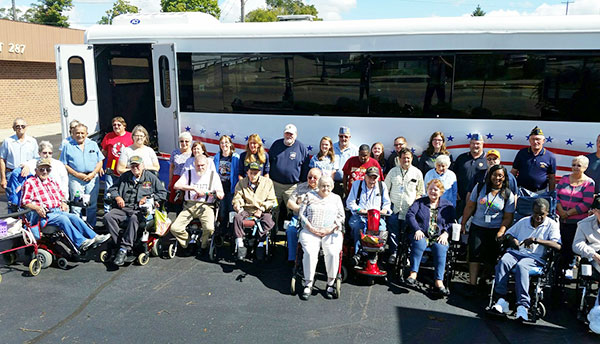 Residents of the Grand Rapids Home for Veterans visited the American Legion in Cedar Springs.