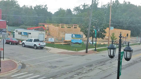 View of the new library as of Wednesday, Sept. 7. Photo from Community Building Development Team Facebook page.