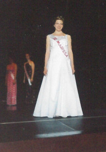 Marissa Case-Shaw wore this white gown in 1998 at the Red Flannel Queen pageant.