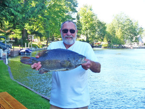 Robert Bruce Kraemer of Treasure Island, Florida, recently set a new state-record catch for smallmouth bass with a fish he caught Sunday, Sept. 11, on Indian River in Cheboygan County. Kraemer owns a cottage in Indian River and spends most of the summer there.
