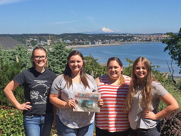 From L to R: Erika Cardinal, Kelsey Kiander, Sarah Kiander, and Anna Behrenwald.
