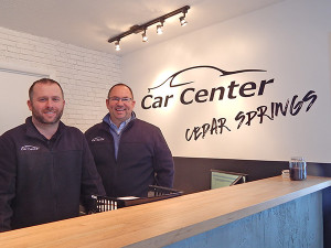 (L to R) Dave Rinvelt, manager at The Car Center, and owner Bill Edwards. Co-owner Nick Edwards is not pictured.