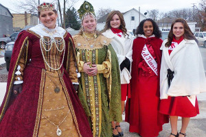 Both Renaissance Royalty and Red Flannel Royalty took part in the mini parade and tree lighting last Saturday. Photo courtesy of P. Conley.