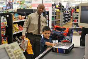 "Kids got to spend some one on one time with Deputies when they ""Shopped with a Sheriff"" last Sunday at the Cedar Springs Meijer."