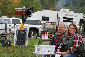 Lori and Leo Constine spent time as volunteer campground hosts in Hartwick Pines State Park this past fall helping campers, answering questions and taking part in the annual fall Harvest Festival.