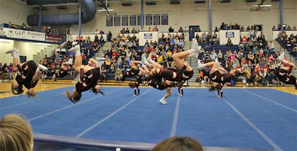 Varsity: The Cedar Springs Varsity Cheer team finished 3rd out of 15 teams at Mona Shores.