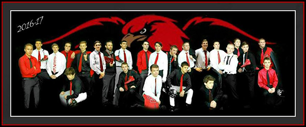 Cedar Springs Red Hawk Varsity Wrestling Team. Photo by Jane Ringler