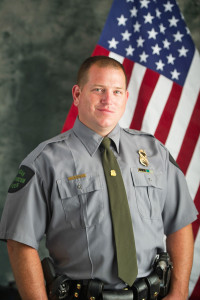 Michigan Department of Natural Resources conservation officer Mike Evink, who is originally from Grand Rapids, and now serving in Michigan's Upper Peninsula. Photo from Michigan Department of Natural Resources.