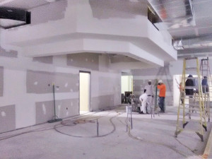 This area is where the circulation desk will be located. Photo courtesy of the Cedar Springs Library.