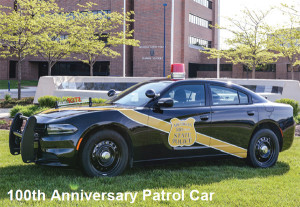 Troopers that win the Mapes award have the first opportunity to drive the new special edition black and gold patrol cars, painted to resemble the MSP's iconic 1937 Ford Model 74 patrol car.