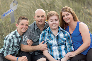 The Ricker family, L to R: Preston, Brian, Brison, and Kim Ricker.