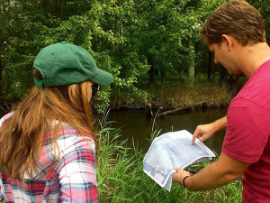 Trout Unlimited and partners at the Natural Resources Conservation Service working on wetland restoration.