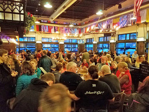 Cedar Springs Brewing Company was packed Monday evening as people flooded in to support the Ricker family in a fundraiser. Photo from CS Brewing Facebook page.