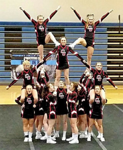 The Cedar Springs Varsity Competitive Cheer team took first at both Comstock Park and Forest Hills Northern.