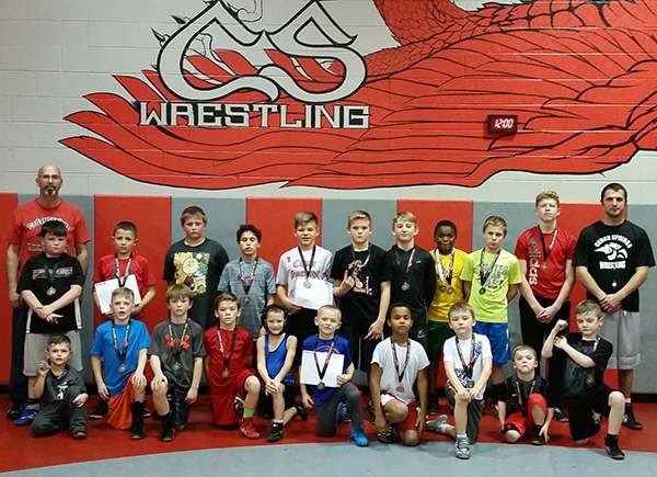 CS Youth wrestlers finished in top spots at the Lowell Open and Novice tournament last weeend. Photo by J. Troupe.