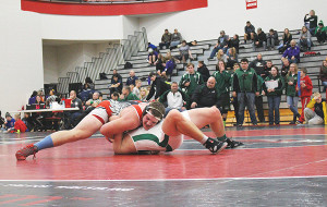 Patrick Depiazza was Heavy Weight Champion and named Most Outstanding Wrestler at the Allendale invitational last week. Photo by B. Chong.