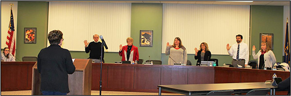 Board of Education take Oath of Office at the January 9, 2017 Board meeting.
