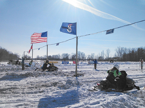 This photo shows a previous snowmobile event. From the Michigan Winter Fest Facebook page.