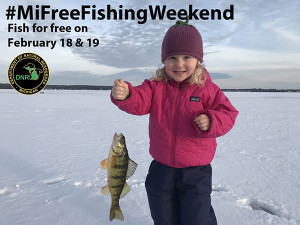 Adults and youths alike can have fun exploring Michigan's winter fishing opportunities during the 2017 Winter #MiFreeFishingWeekend