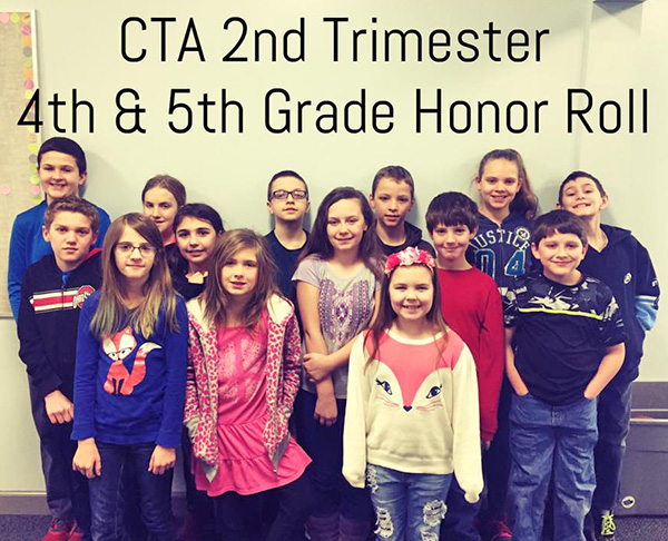 4th and 5th Grade Honor Roll Students