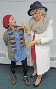 Pictured left to right: Kyria Elise and Char Ambrose in The Waif, the story of little orphan Annie.