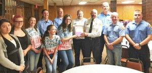 The Courtland Fire Department was one of the fire departments honored at the American Legion dinner.